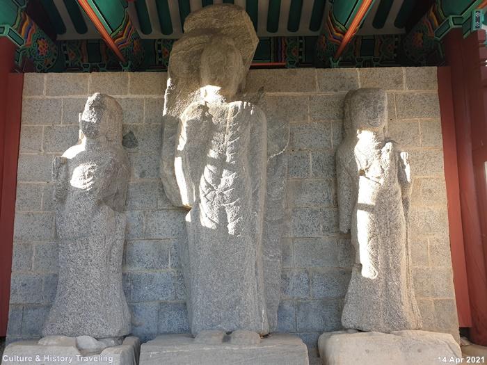 청양 읍내리 석조여래삼존입상 보물 197호 01-20210414